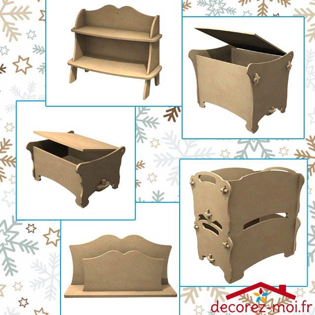 meubles kit tag re en bois monter boite empilable. Black Bedroom Furniture Sets. Home Design Ideas