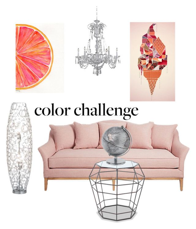 """""""color challenge GRAYandPEACH"""" by ana-banana456 ❤ liked on Polyvore featuring interior, interiors, interior design, home, home decor, interior decorating, colorchallenge and grayandpeach"""