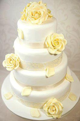 Hochzeitstorte Weisse Rose Motivtorten Pinterest Hochzeitstorte