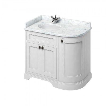 burlington freestanding corner vanity unit with doors 100cm left rh pinterest com