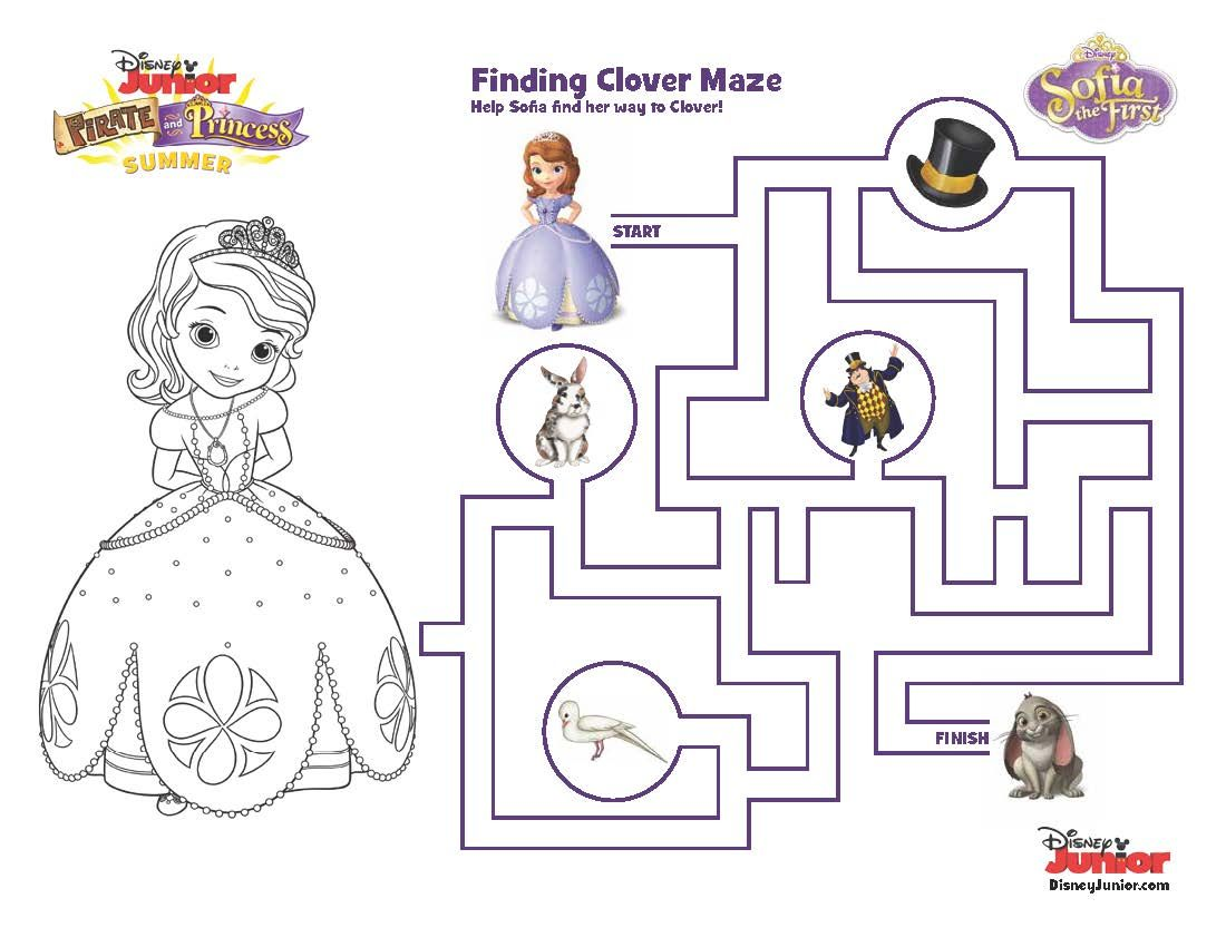 Find Clover In This Maze Sophiethefirst Printable Disney