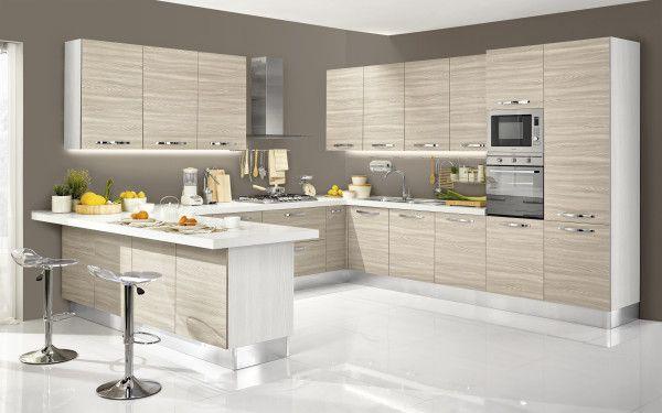 Cucina componibile, effetto bianco larice | : Stella Classica 4R5N ...