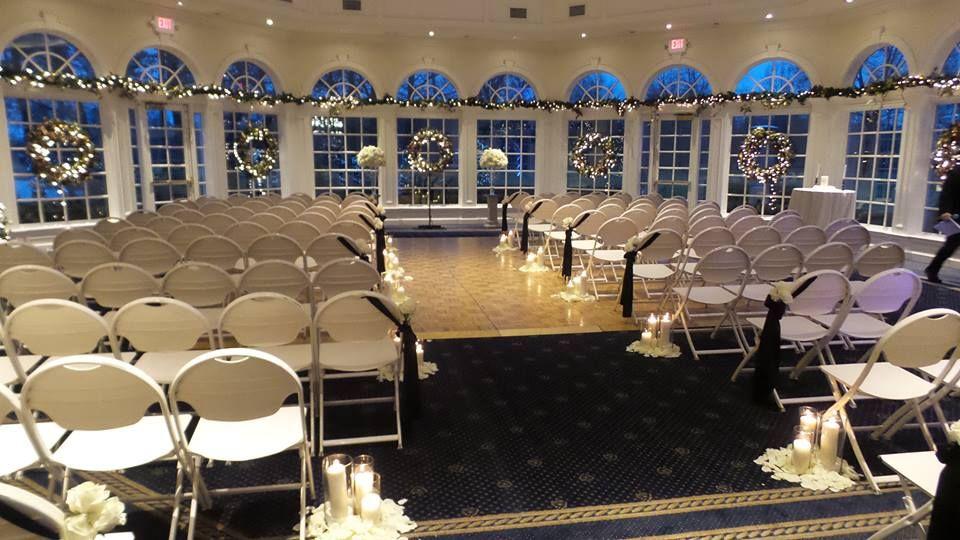 Indoor Winter Ceremony Cherry Creek Golf Club Banquet Center