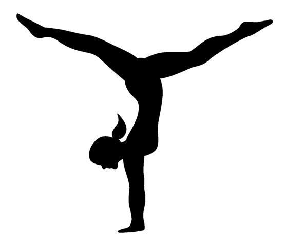 Gymnastics Silhouette Clip Art Gymnastics Images Clip Art