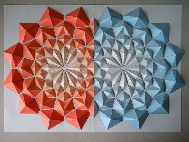Moving Origami Mosaics Decoration Pinterest Origami Art