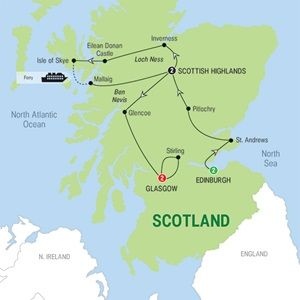 """""""Best of Scotland - 2015 - USA - Trafalgar Tours"""" Good price! Lots of meals included and a nice itinerary."""