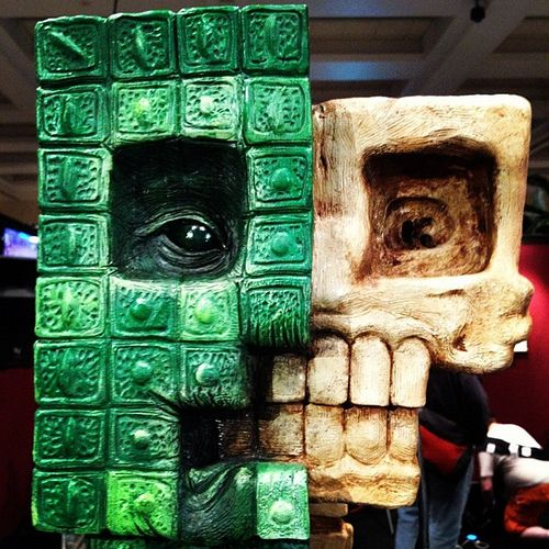 The Anatomy Of A Minecraft Creeper On Display At Pax Minecraft