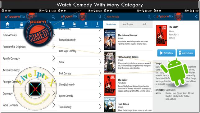 Watch TV Stream Online Popcornflix Comedy Apk For