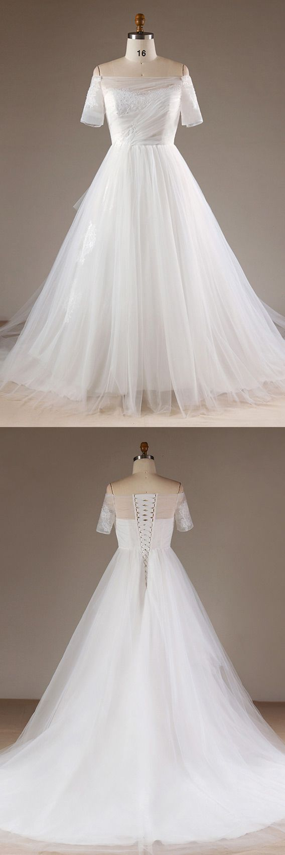 Plus size tulle wedding dress  Only  Plus Size Wedding Dresses Simple Plus Size Off