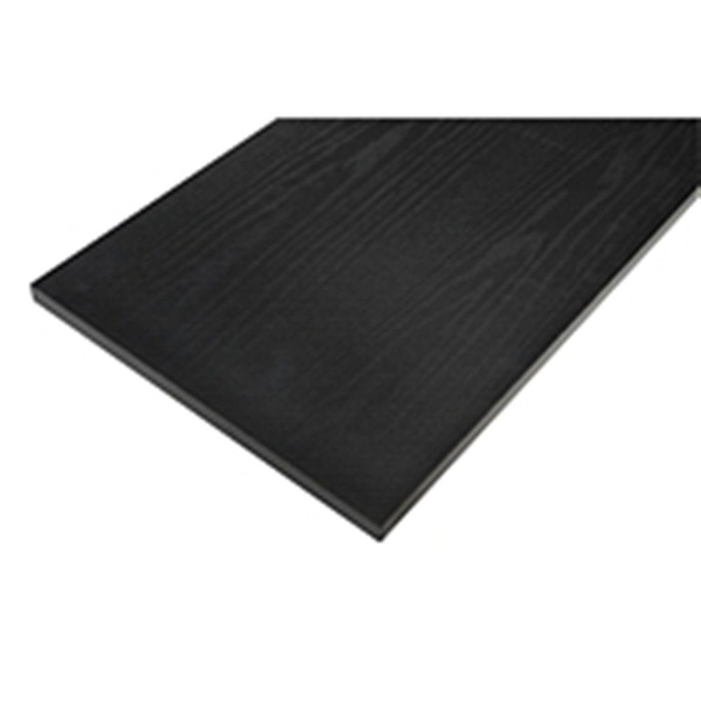 Rubbermaid 12 In X 24 In Black Laminated Wood Shelf Fg4b7900bla