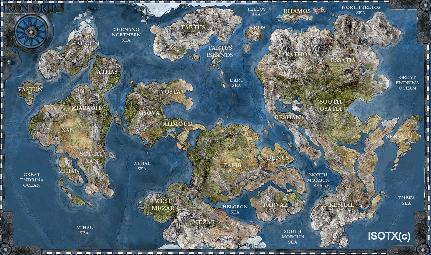 Iron Grip World Map by Monkey Paw world map Pinterest Iron Fantasy ma