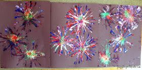 Juggling With Kids: Firework Painting #fireworkcraftsforkids Juggling With Kids: Firework Painting #fireworkcraftsforkids