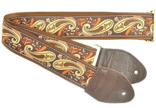 Souldier Custom GS1116NM05WB Handmade Paisley Guitar Strap, Brown Gold by Souldier. $32.00. Using recycled seatbelt, original vintage materials, and salvaged leather and vinyl, Souldier goods are Handmade in Chicago by our excellent team of crafters to be strong, luxurious and eco-friendly. Designed to last for world tours, our straps are created for gigging musicians. Souldier even offers a lifetime warranty on the strap ends. By purchasing a Souldier guitar strap you are admitt...