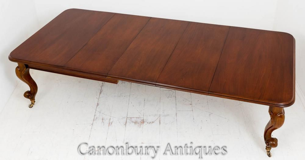 Canonbury Victorian Mahogany Dining Table Extending Cabriole Leg