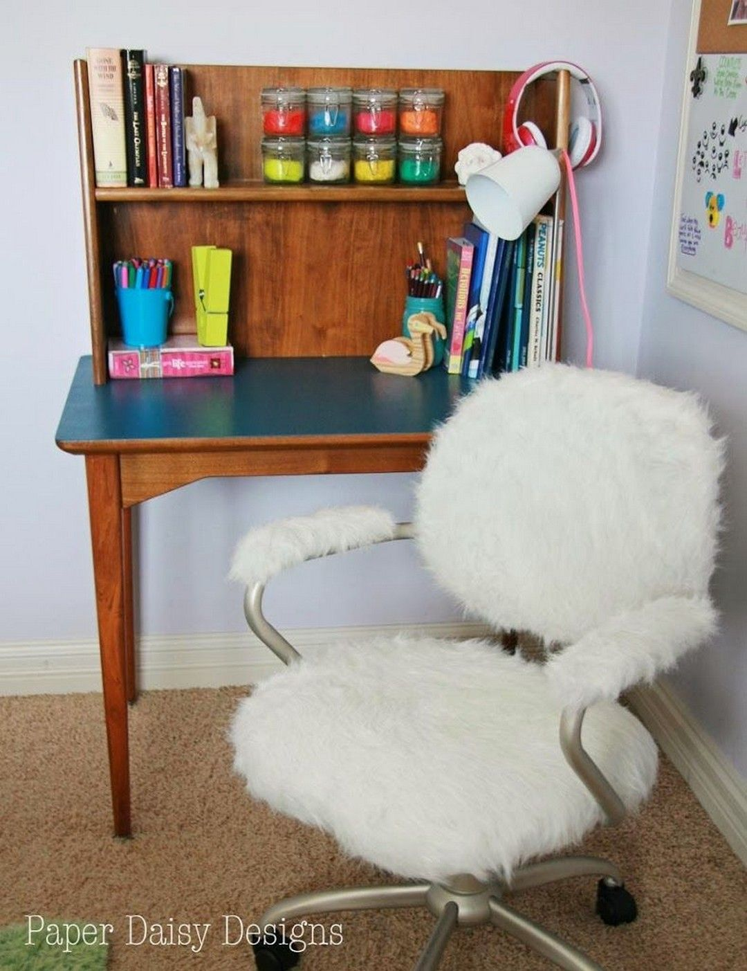 fuzzy desk chair cover