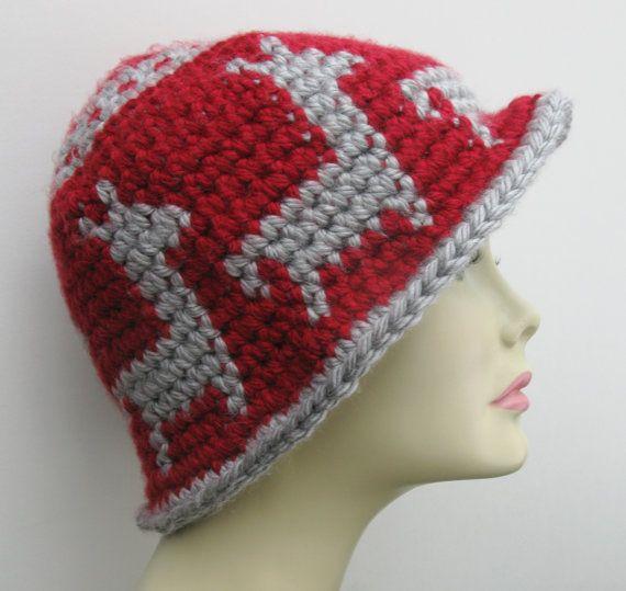 Tapestry Crochet Cloche Wide Rimmed Hat Llama Pattern by ...