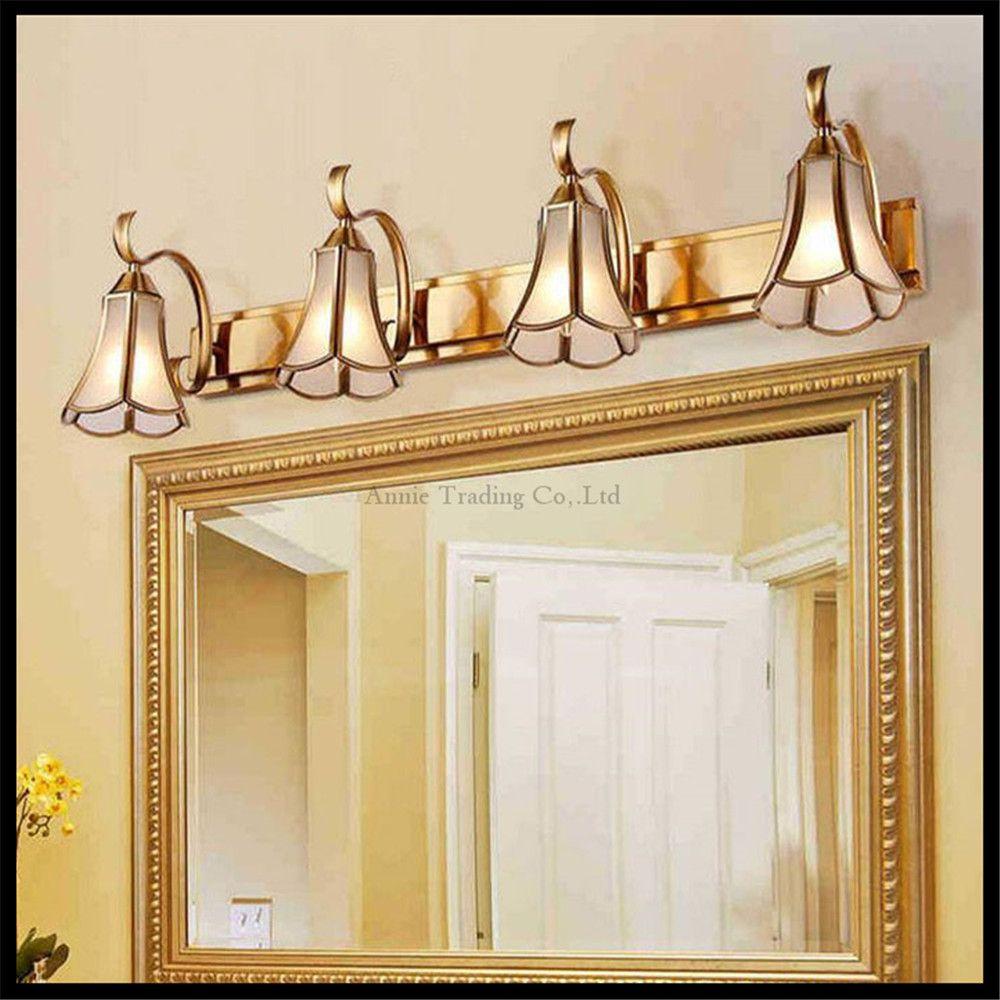 L15cm 35cm 58cm 81cm Gold Bronze mirror lighs Vintage Glass shade ...