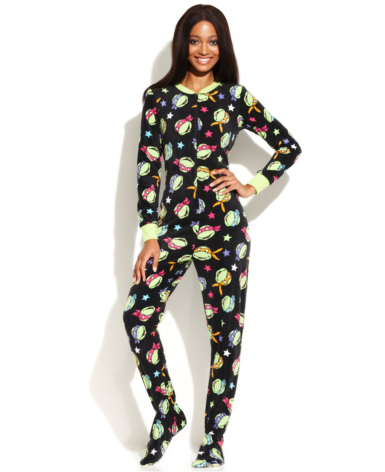 Briefly Stated Green TMNT Footie Pajamas - Juniors | Blankets ...