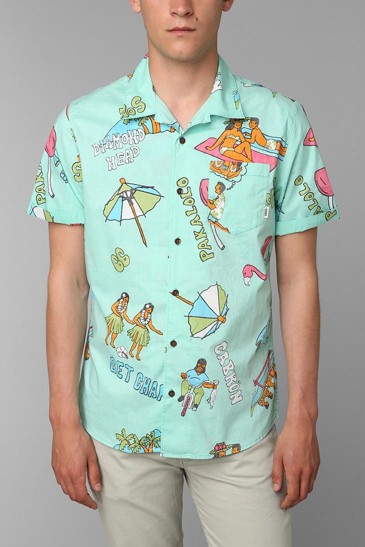 d0b7ac864bdc95 Vans Aloha Button-Down Shirt