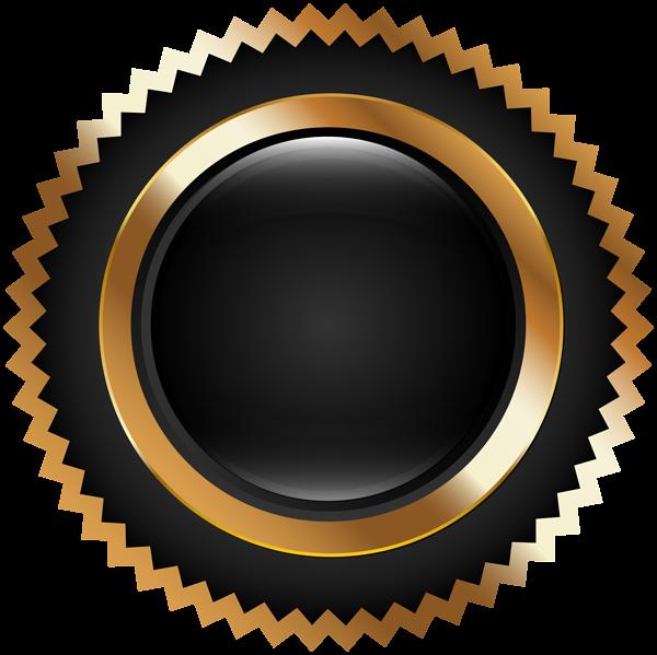 Seal Badge Black Gold PNG Clip Art Black texture