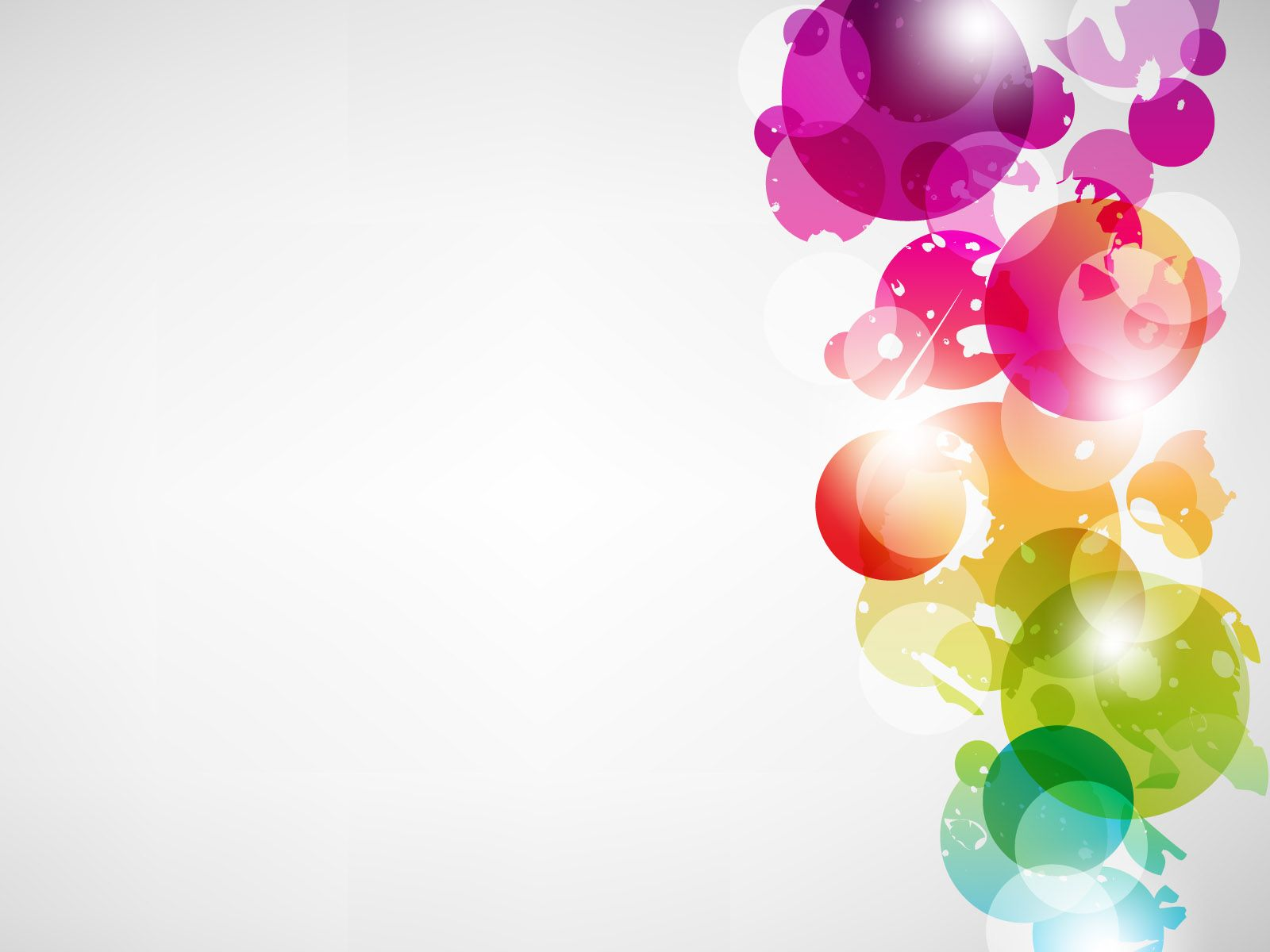 Abstract Multicolour Vector Powerpoint Backgrounds
