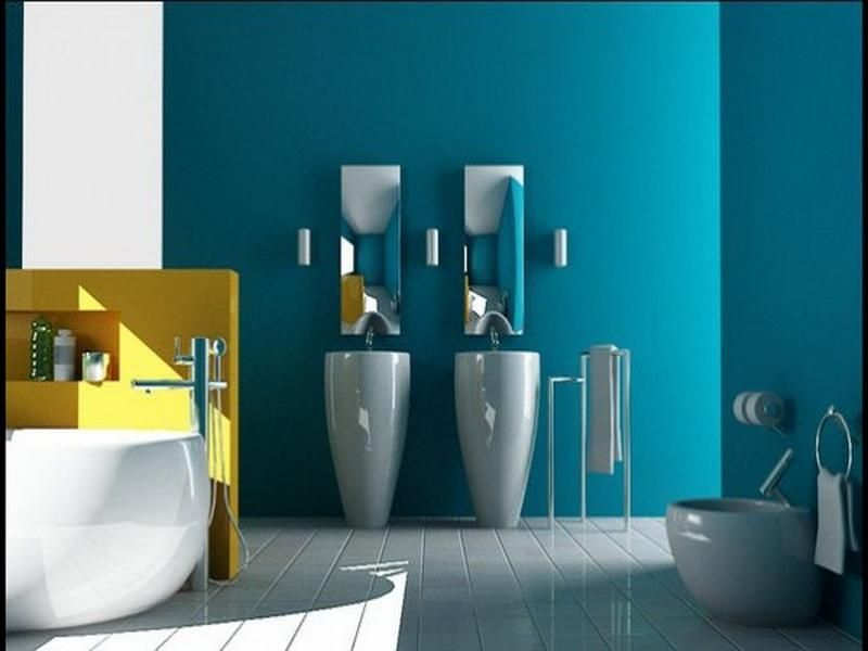 Bathroom Yellow Paint bright ideas for bathroom paint colors | bathroom designs