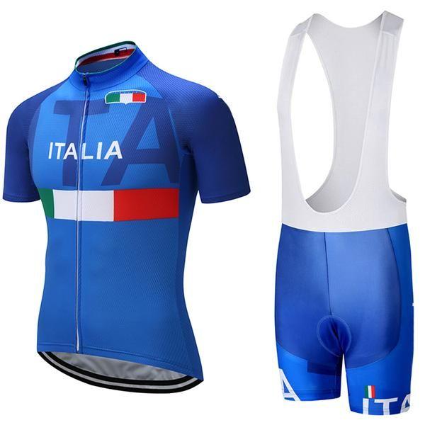b5f3fac387a 2018 ITALIA TEAM PRO Cycling Jersey 9D pad bibs shorts