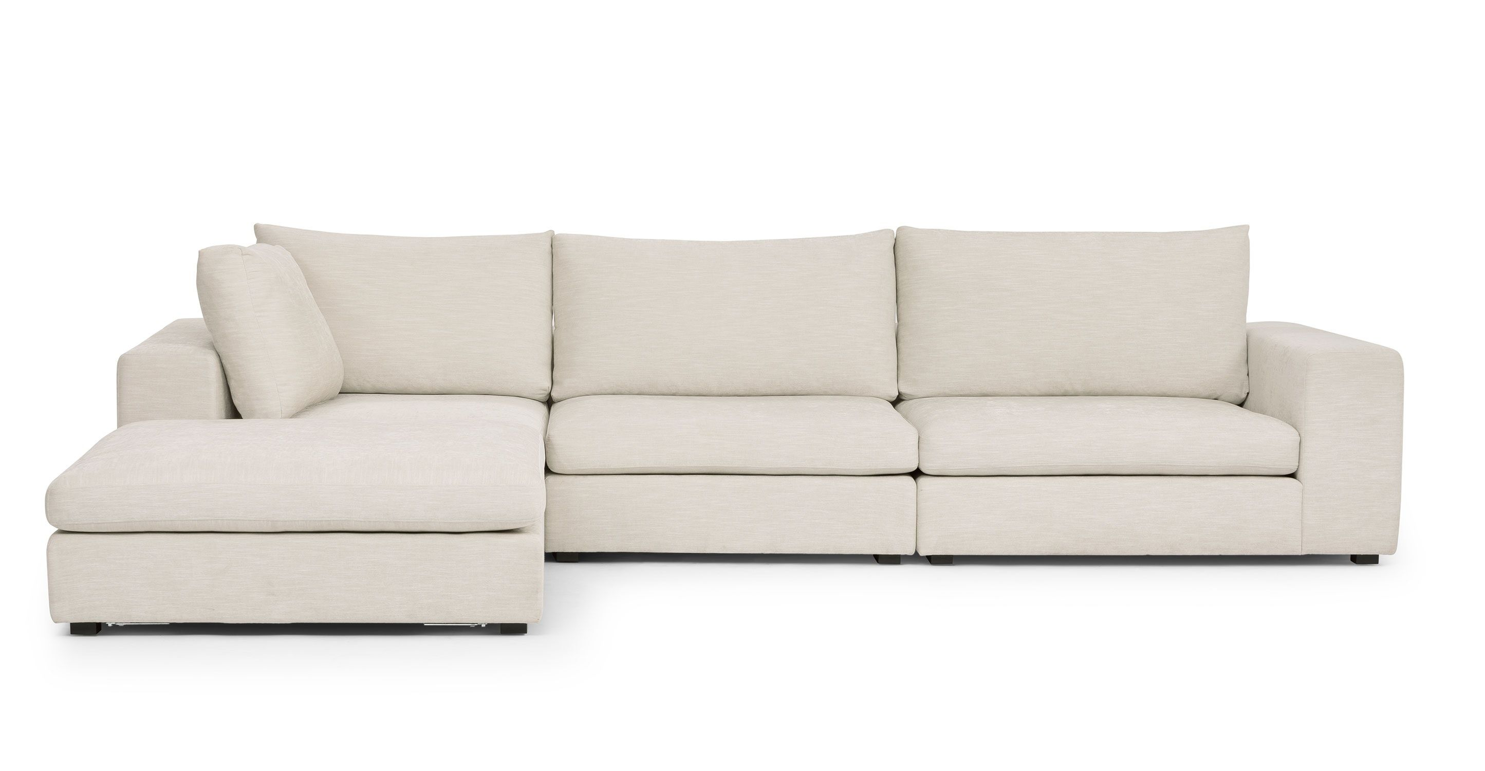 Gaba Pearl White Left Modular Sectional Modular Sofa Modern