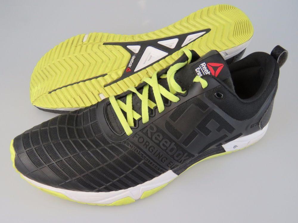 f92a2c30261 REEBOK M42687 Crossfit Sprint TR Training Shoes Black Green White Men s US  13