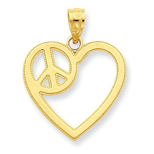 14k heart with peace sign pendant httpspecialdaysgift yellow gold heart with peace sign pendant grams in yellow gold free gift ready jewelry box this item does not ship with a chain mozeypictures Image collections