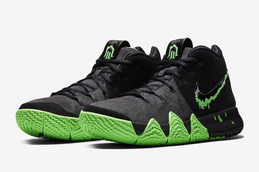 outlet store 2ed53 ddcc1 Nike Kyrie 4 Halloween Black Rage Green 943806-012 Release ...