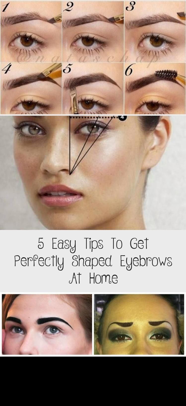5 Easy Tips To Get Perfectly Shaped Eyebrows At Home #perfecteyebrows