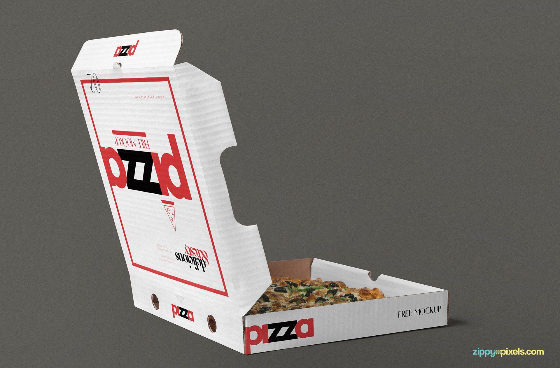 Download Free Pizza Box Mockup Psd Zippypixels Box Mockup Pizza Box Design Packaging Mockup