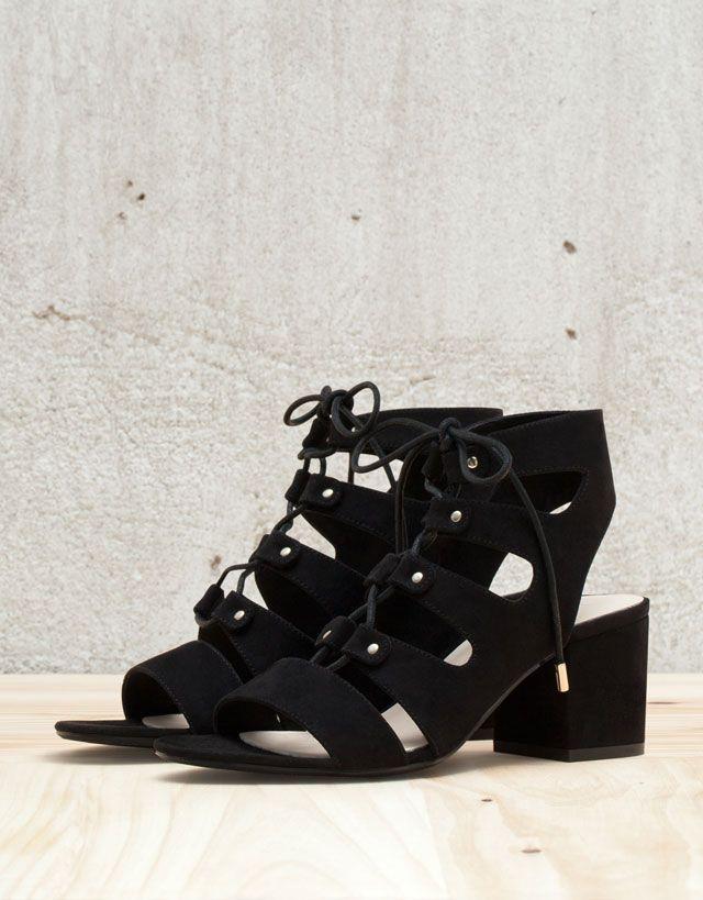Heel Shoes New Women MarocLow Bershka Collection N0X8nwOPk