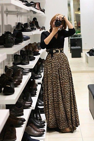 skirt maxi skirt leopard print