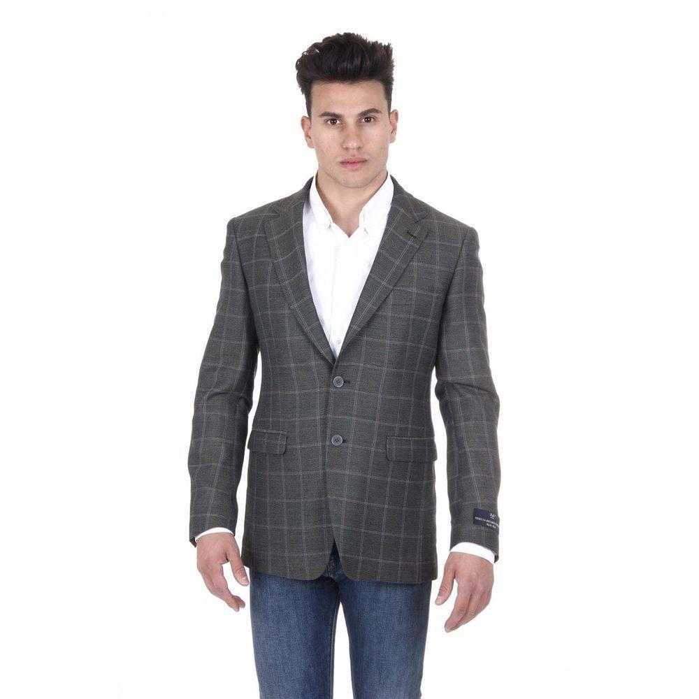 Versace Men's Wool Blazer Jacket  #Versace #TwoButton