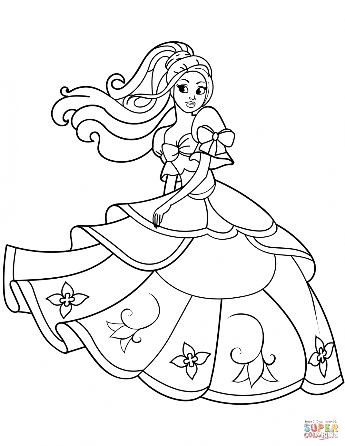 11 Coloring Pages For Princesses in 11  Malvorlage prinzessin