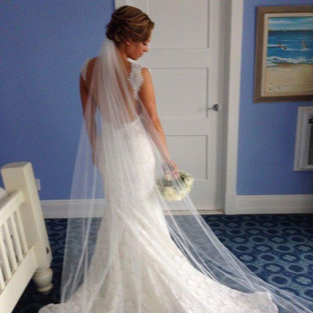 Good Morning America Host Ginger Zee Says I Do To Ben Aaron Ginger Zee Gorgeous Wedding Dress Wedding Bridesmaid Dresses