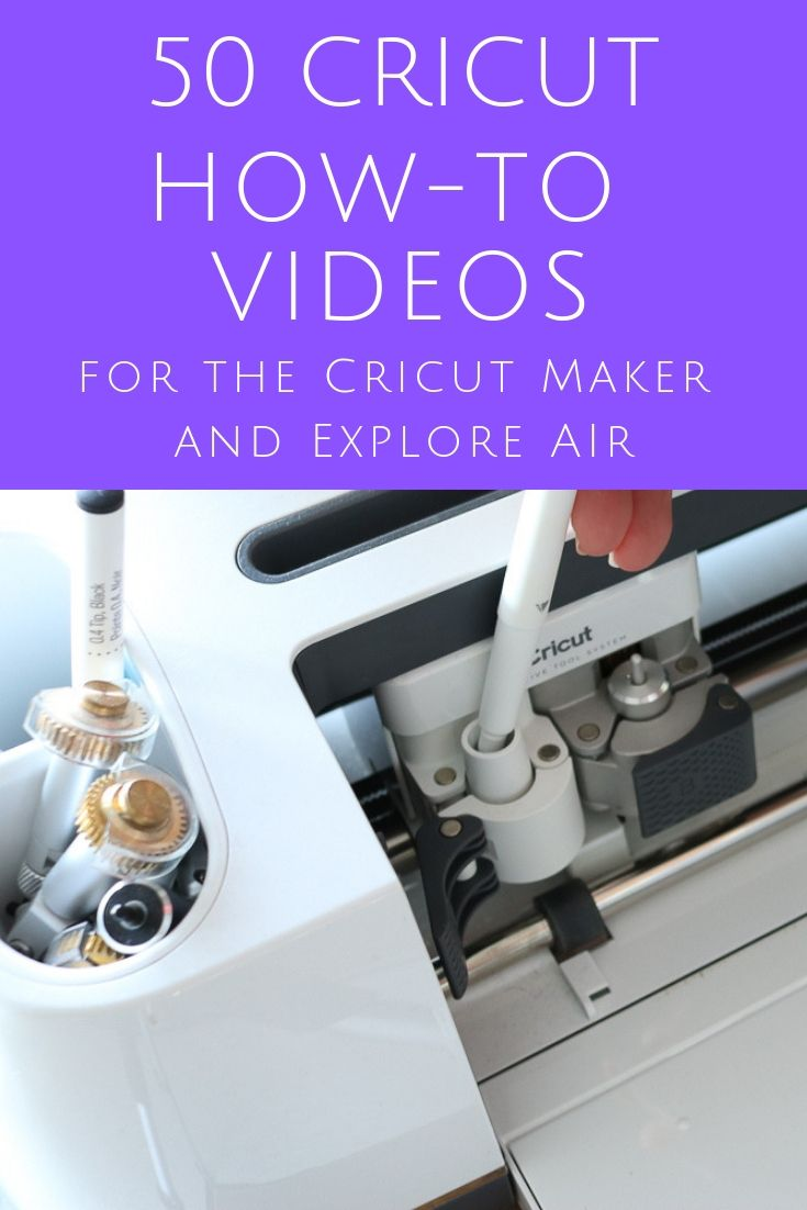 50 Cricut How-to Videos to Master Your Machine #cricuthacks