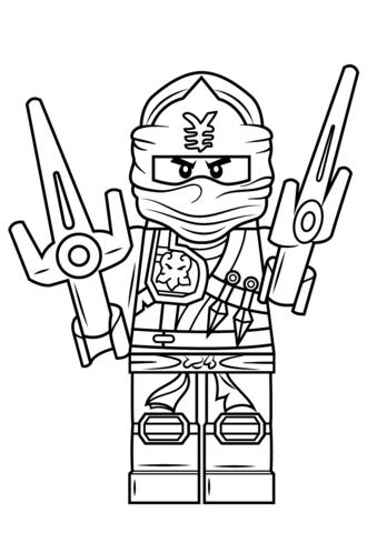 Plansa De Colorat Lego Ninjago Jay Lego Coloring Lego Coloring Pages Ninjago Coloring Pages