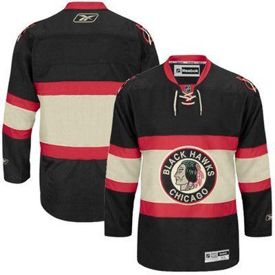 sports shoes 756f8 f1f37 Reebok Chicago Blackhawks Black Premier Hockey Jersey ...