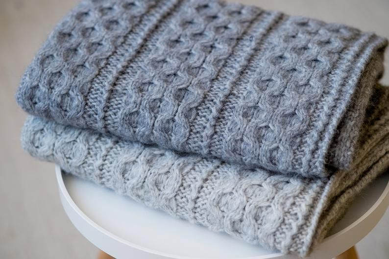 Baby Hand Gestrickte Alpaka Decke Babydecke Wolle Naturliche