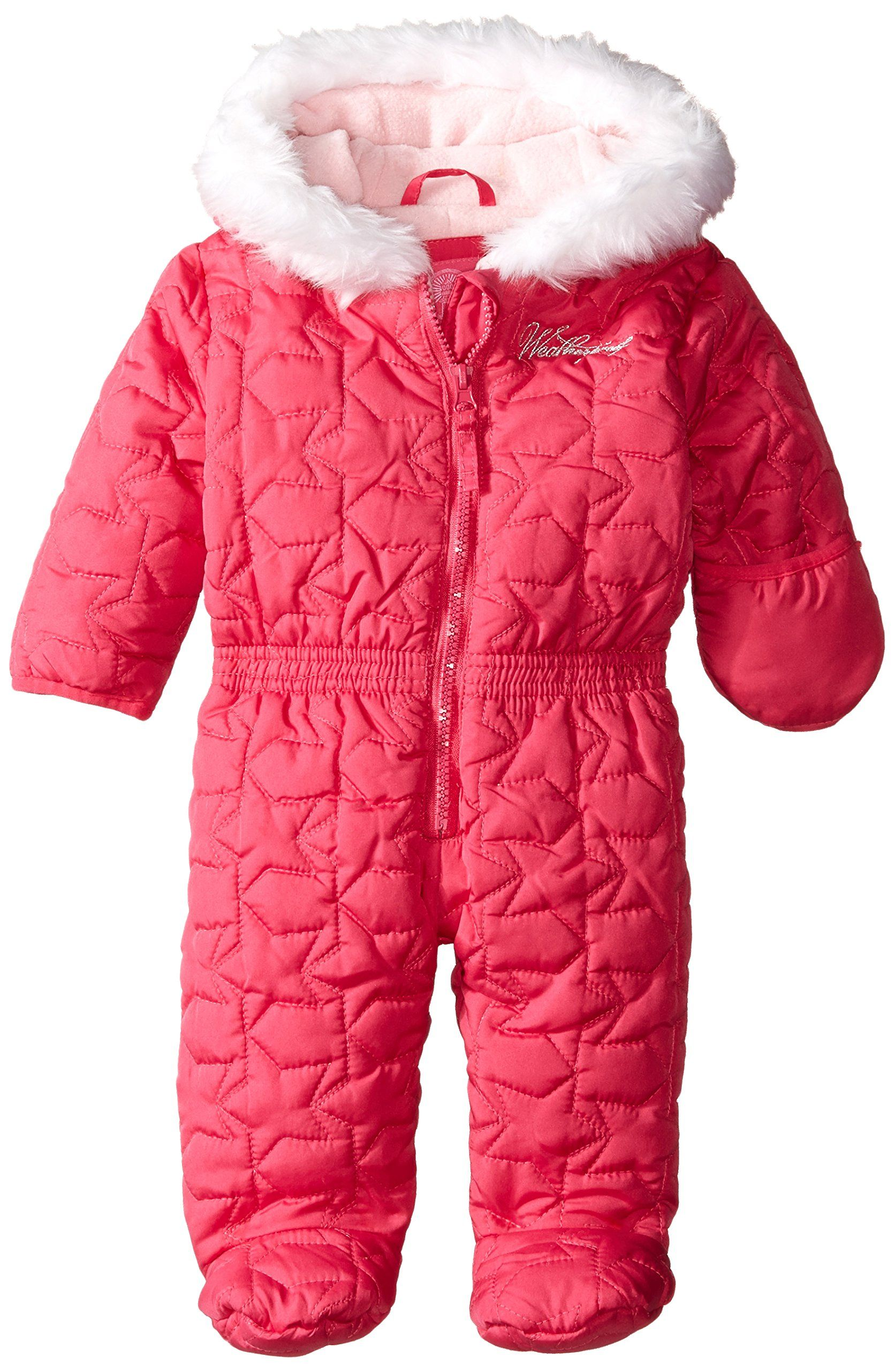 Baby Boys Dinosaur Volcano All in One Hooded Winter Snowsuit White 3-6 Months