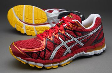 asics gel kayano 20 red/white/yellow
