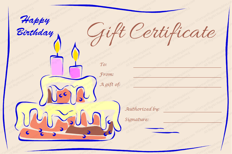 Madagascargiftcertificare Birthdaygiftcertificate Giftvoucher
