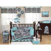 Found it at Wayfair - Zebra Turquoise Collection 9pc Crib Bedding Set