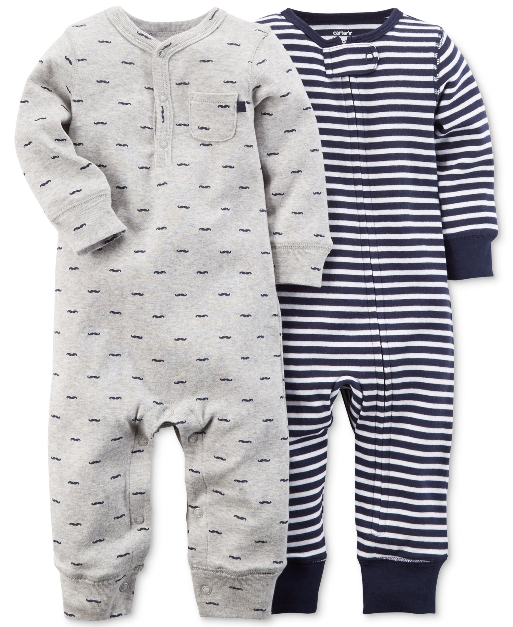 1ac876643b8e Carter s Baby Boys  2-Pack Printed Coveralls