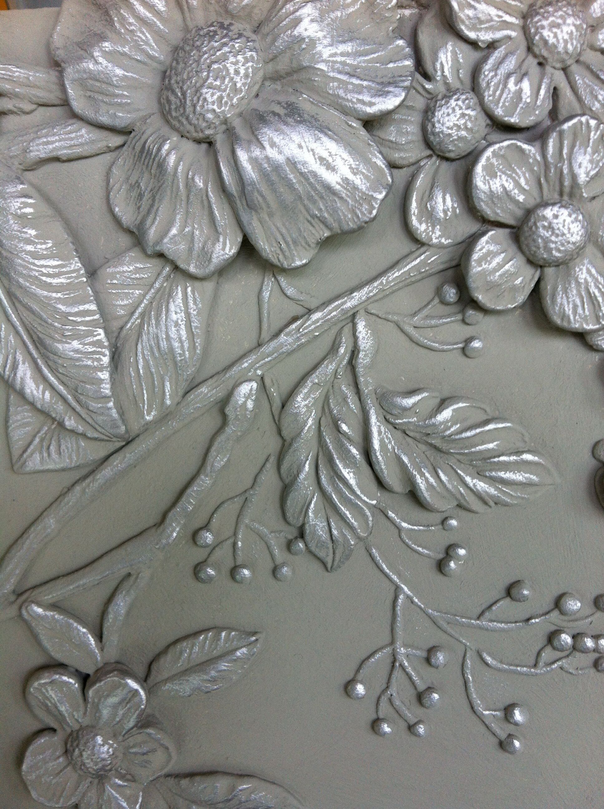 Painted 3d plaster panel made by The Finished Effect Ltd