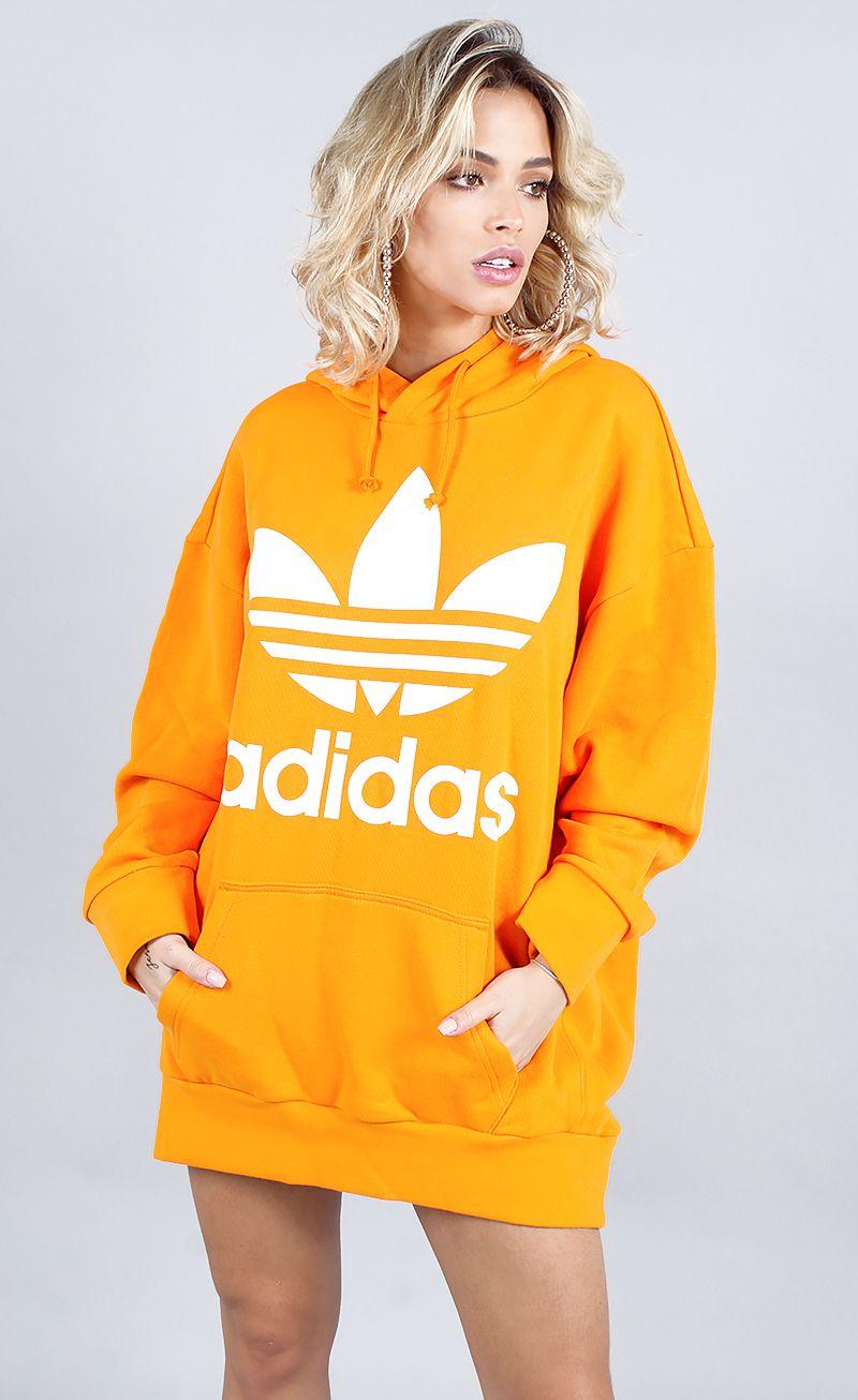 blusa adidas tref over hoody laranja  73658160dbf