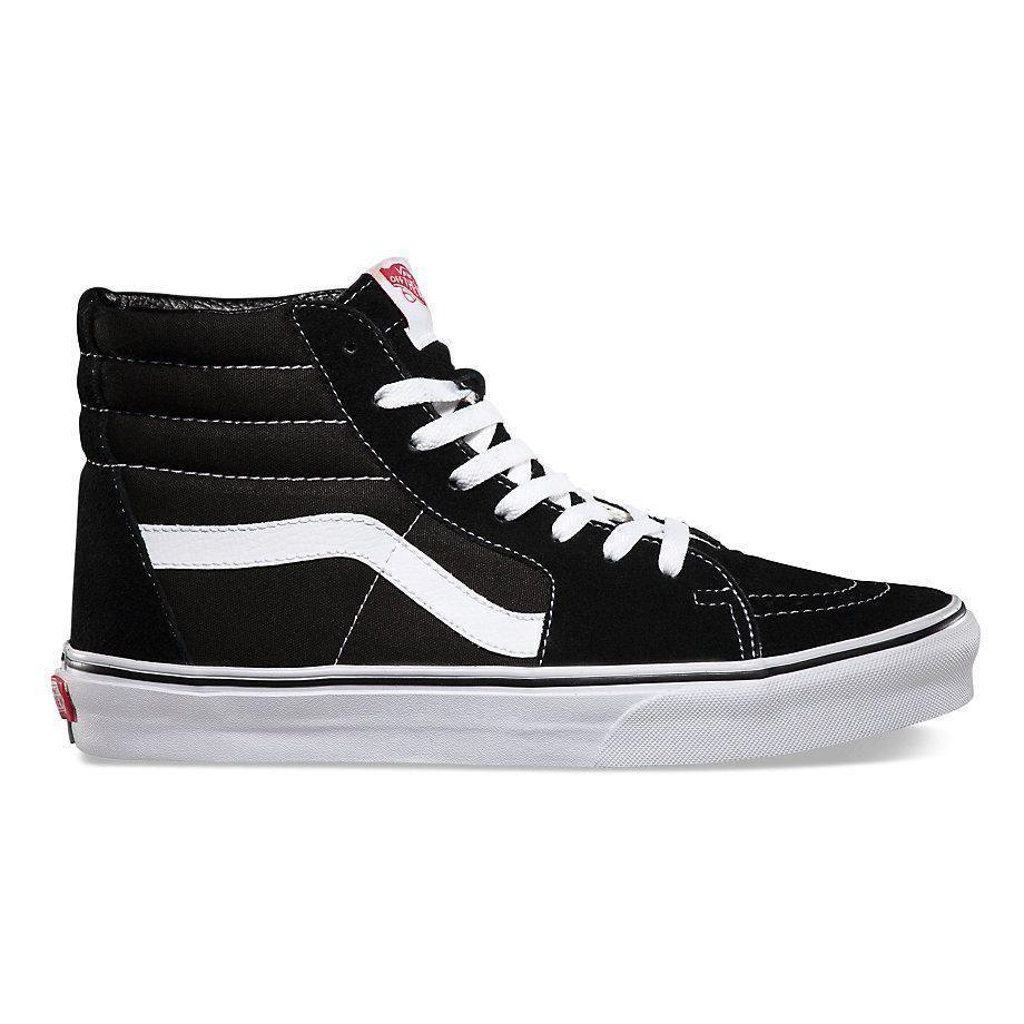 a975c07744 Vans Suede Canvas SK8-HI Skate Shoes - Black